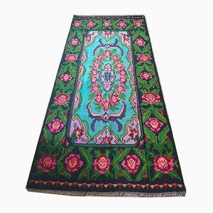 Großer Rumänischer Teppich mit Blumenmuster, 1970er