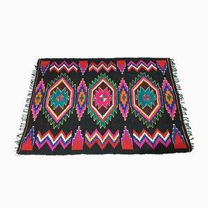 Romanian Handmade Geometric Wool Rug