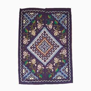 Romanian Handmade Brown Wool Carpet, 1960s