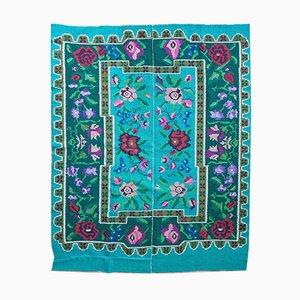 Romanian Handmade Wool Floral Carpet, 1960s