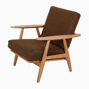 Oak Model GE240 Cigar Lounge Chair by Hans J. Wegner for Getama, 1950s