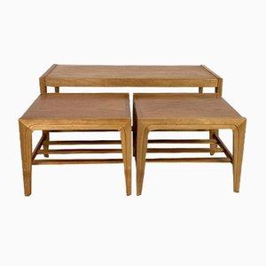 Mid-Century Teak Nesting Tables, Set of 3