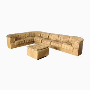 Vintage Patchwork Leather DS 11 Sofa from de Sede, 1970s, Set of 8