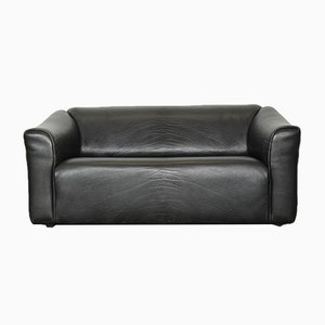 Black Leather DS 47 Sofa from de Sede