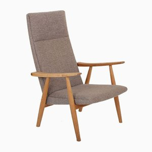 Oak & Wool Highback GE260A Chair by Hans J. Wegner for Getama, 1960s