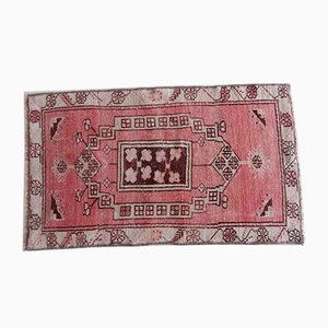 Turkish Distressed Oushak Miniature Rug, 1970s