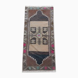 Small Turkish Distressed Low Pile Rug, 1970s