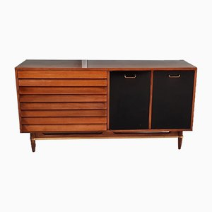 Walnut Sideboard with Hutch by Merton Gershun for American of Martinsville, 1960s