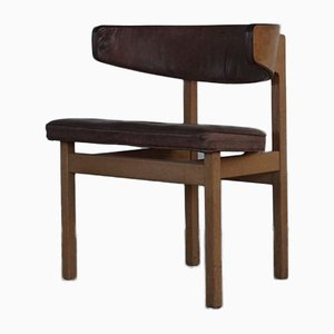 Oak & Leather Dining Chair by Børge Mogensen for Fredericia, 1960s