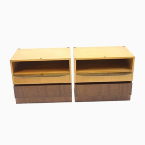 Vintage Bedside Tables with Drawers, 1966, Set of 2