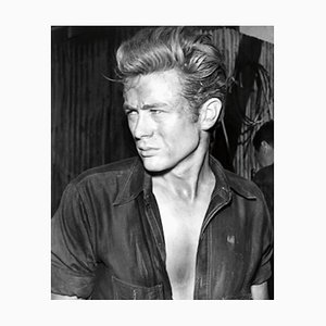 James Dean Archival Pigment Print Framed in White