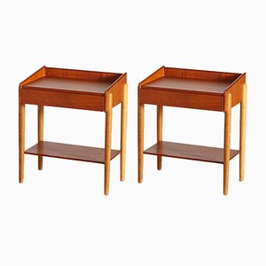 Teak Model 148 Night Stands by Børge Mogensen for Søborg Møbelfabrik, 1950s, Set of 2