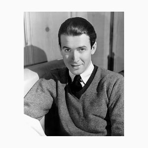 James Stewart Archival Pigment Print Framed in White by Everett Collection