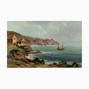 Scottish Beachfront Painting by Robert Weir Allan, 1880s
