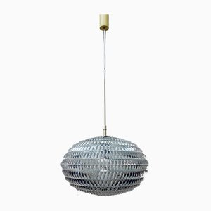 Vintage German Origami Diamond Hanging Lamp by Aloys Gangkofner for Erco, 1960s