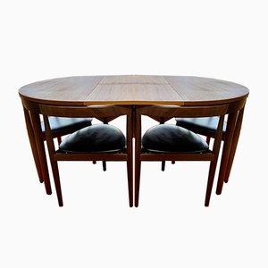 Set de Salle à Manger et Chaises Roundette Mid-Century par Hans Olsen pour Frem Røjle, Danemark, 1960s, Set de 7