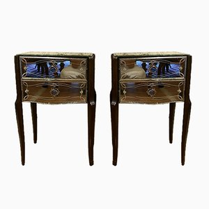 Art Deco Chest of Drawers, 1920s, Set of 2