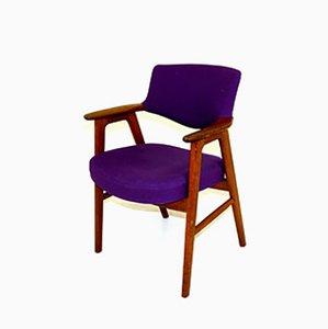 Suede Desk Chair by Erik Kirkegaard, 1960s