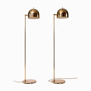 Brass G-075 Floor Lamps from Bergboms, 1960s, Set of 2