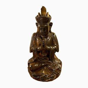 Large Wooden Buddha Sculpture, 1780s