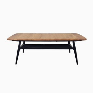Coffee Table with Black Legs by Lucian Ercolani for Ercol, 1970s