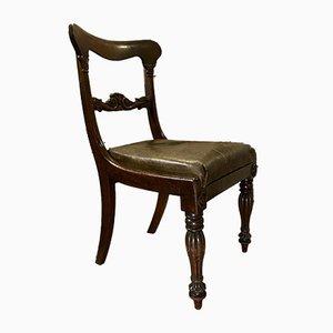 English Mahogany Dining Chairs, Set of 4