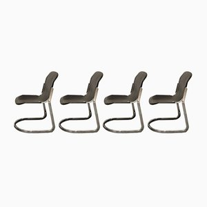 Dining Chairs by Willy Rizzo for Cidue, 1970s, Set of 8