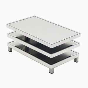 Chrome Steel Swivel Coffee Table from Maison Mercier, 1970s