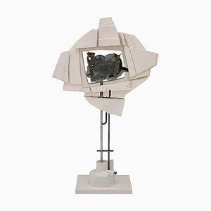 Mid-Century Plastik Skulptur aus Holz, Plexiglas & Metall von André Pailer, 1970er