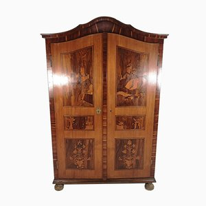Antique Wardrobe with Marquetry, 1920s