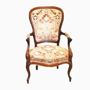 Antique Walnut Armchair, 1800s
