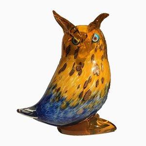 Figurina a forma di gufo in vetro di Murano di Franco Moretti, Italia, anni '60
