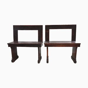 School Benches, 1920s, Set of 2