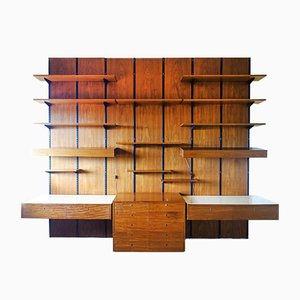 large Modular Wall Unit from Sparrings, Sweden, 1960s