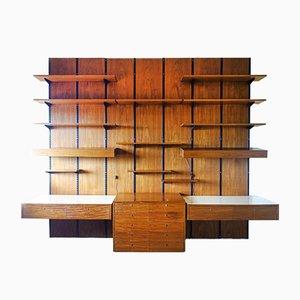 Mueble de pared modular grande de Sparrings, Sweden, años 60