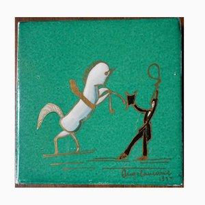 Piastrella Art Décp in ceramica di Gio Ponti per Richard-Ginori, 1933