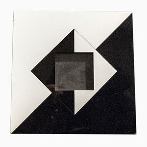 Rahmen aus Plexiglas, Glas, Leder & Messing von Christian Dior, Italien, 1950er