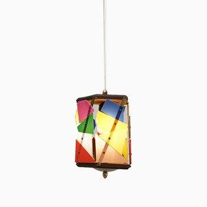 Italian Ceiling Lamp from Alfaplex, 1950s