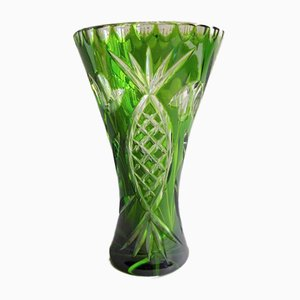 Bohemia Polished Crystal Vase, 1940s