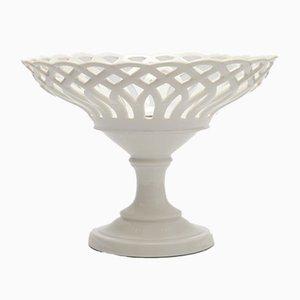 Open-Work White Porcelain Tazza from Porcelain de Paris