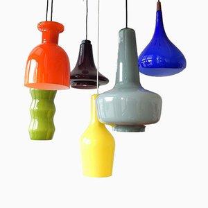 Lampade da soffitto Mid-Century colorate, set di 6