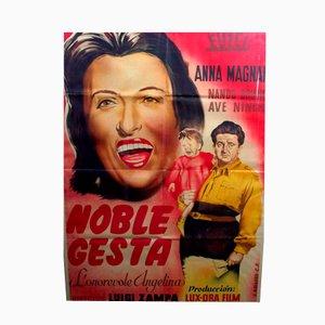 Póster enmarcado de la película Noble Gesta con Anna Magnani, 1974