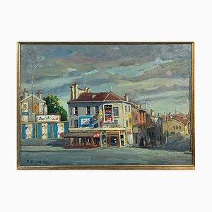Ansicht von Paris Rue de Sèvres Gemälde von Pietro Boyer, 1970er