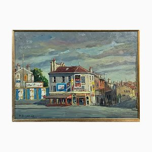View of Paris Rue de Sèvres Painting by Pietro Boyer, 1970s