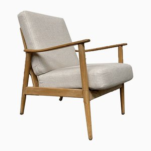 Vintage Danish Lounge Chair in Beech, 1960s