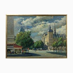 Peinture Paris Châtele par Pietro Boyer, 1980s
