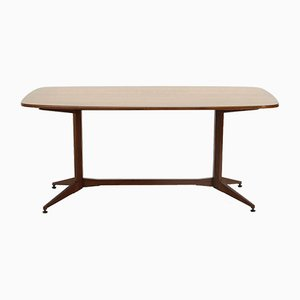 Modernist Table with Wooden Top, 1950s