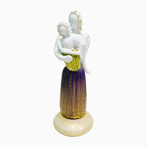 Motherhood Sculpture by Napoleone Martinuzzi & Ercole Barovier for Barovier e Toso, 1934