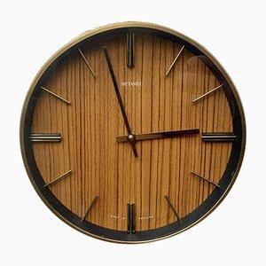 Mid-Century Wind-Up Wall Clock from Metamec
