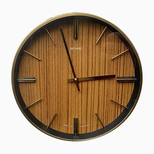 Orologio a muro Wind-Up Mid-Century di Metamec